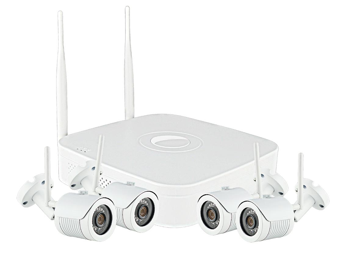 Комплект видеонаблюдения IP wi-fi цена 20 000 руб.